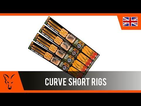 Fox EDGES™ CURVE SHORT READY RIGS GRAVELLY BROWN Вързани куки на косъм