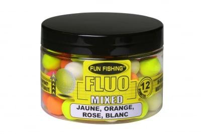 Fun Fishing Fluo Pop Ups Микс цветове 8мм 60 броя Поп-Ъпи
