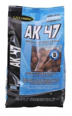 Fun Fishing Boilies AK47 Протеинови топчета 1кг.