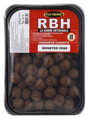 Fun Fishing RBH Boilies Monster Crab 1kg Протеинови топчета