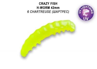 Crazy Fish MF H-Worm Floating 4.2см Силиконова примамка