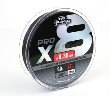 Плетено влакно FOX Rage Pro 0.10mm 7kg -  120m сиво