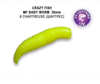 MF Baby Worm 30mm Squid+Shrimp 12 броя Floating