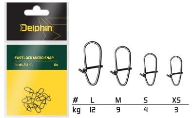 Delphin Fastlock micro snap 10 броя