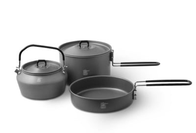 Delphin Cookware Camping Set Комплект за готвене 3 в 1
