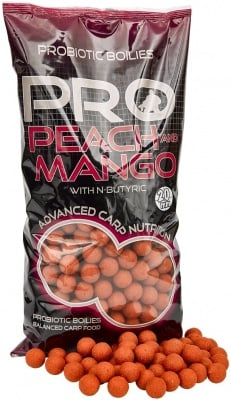 Starbaits Boilies Peach and Mango Протеинови топчета 1 кг