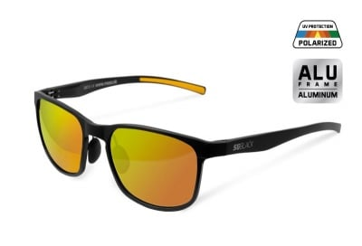 Delphin SG BLACK Polarized sunglasses orange lenses Поляризирани очила