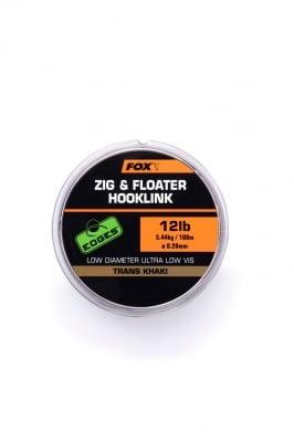 Fox Edges Zig & Floater Hooklink Влакно за зиг риг