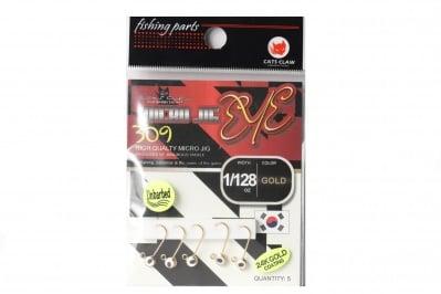 Cats Claw Micro Jig Eye Hooks 309 Gold Джиг глави златисти