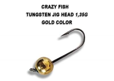 Crazy Fish Tungsten Jig Heads Gold волфрамова джиг глава