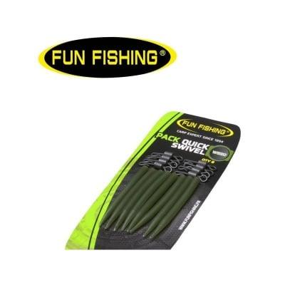 Fun Fishing Pack Quick Swivel 16 броя Бърза връзка и противооплитащо