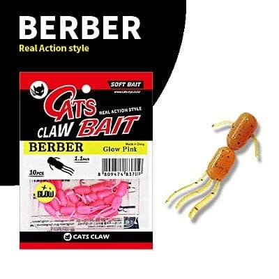 Cats Claw Berber 3 cm Силиконова примамка