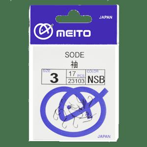 Meito Hooks Sode Nickel Единична Кука