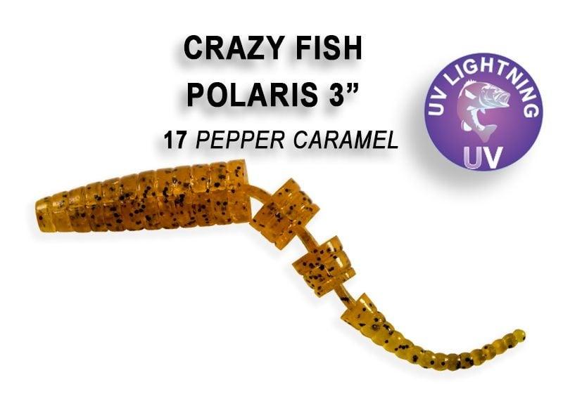 Crazy Fish Polaris 6.8см Силиконова примамка  17 Pepper Caramel