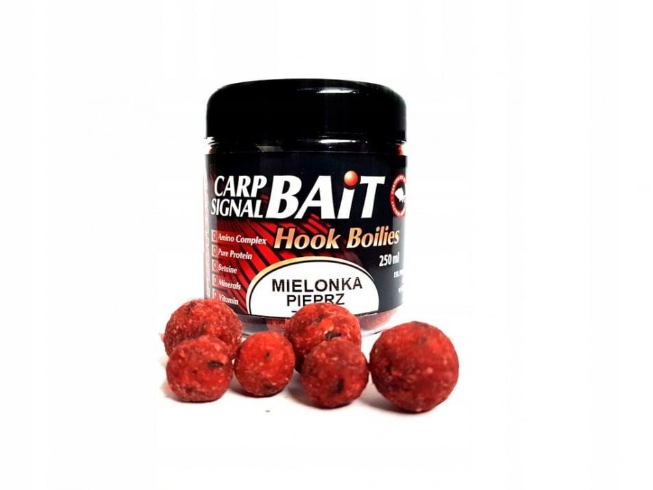 Profess Carp Boilies Signal Bait 16/20мм 250мл. Протеинови топчета Шунка и Пипер