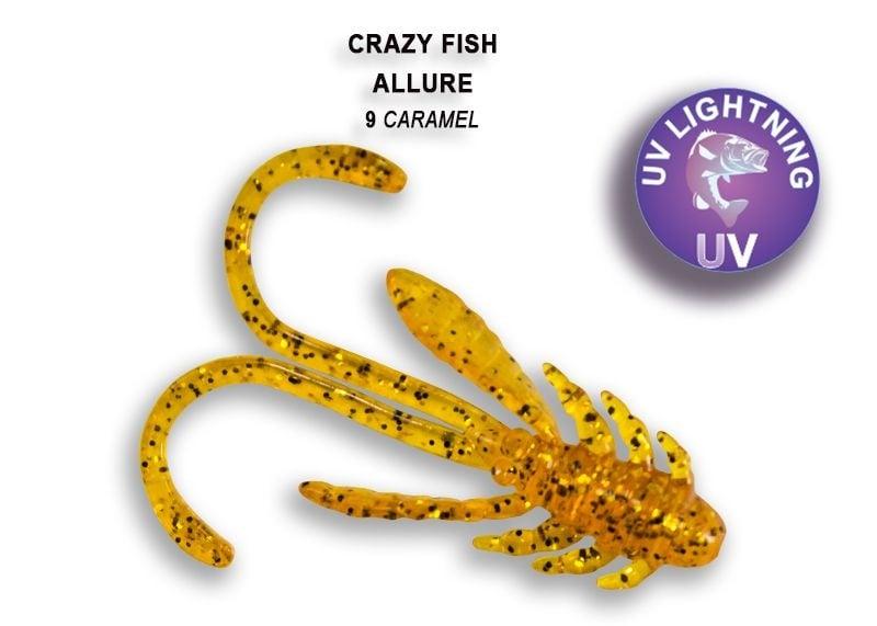 Crazy Fish Allure 4см Силиконова примамка 09 Caramel
