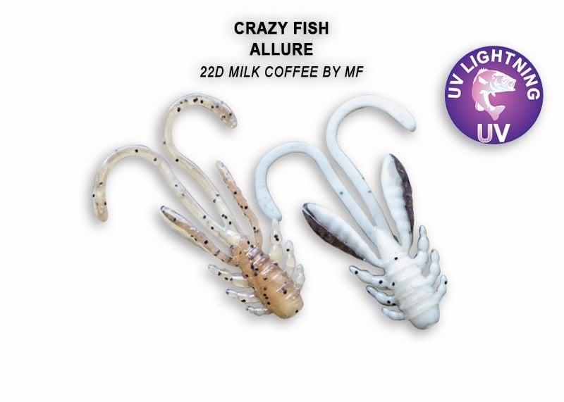 Crazy Fish Allure 2.7см Силиконова примамка 22D Milk Coffee
