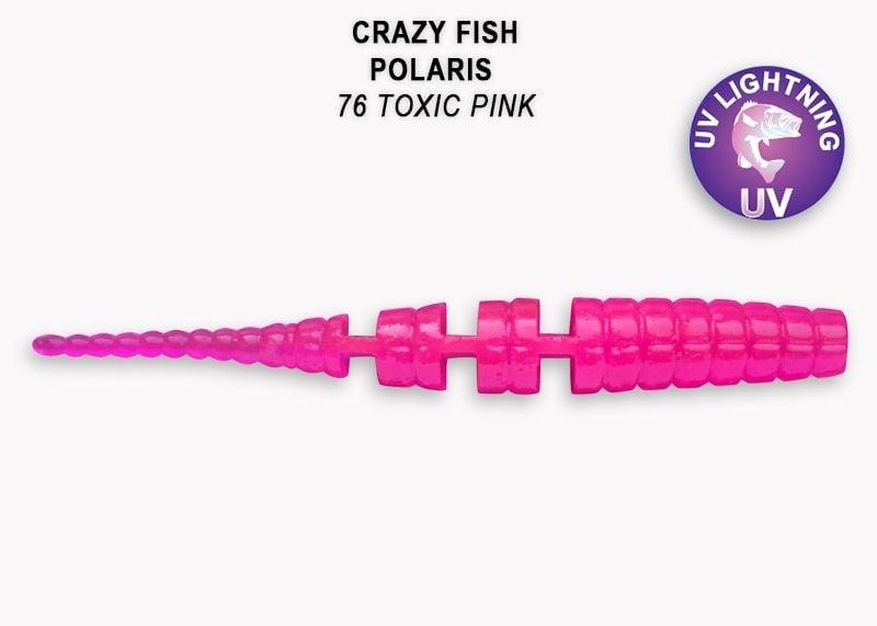 Crazy Fish Polaris 4,5см Силиконова примамка  76 Toxic Pink