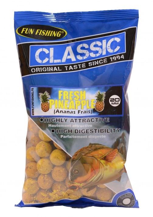 Fun Fishing Classic Boilies 15мм 800гр Протеинови топчета Fresh Pineapple