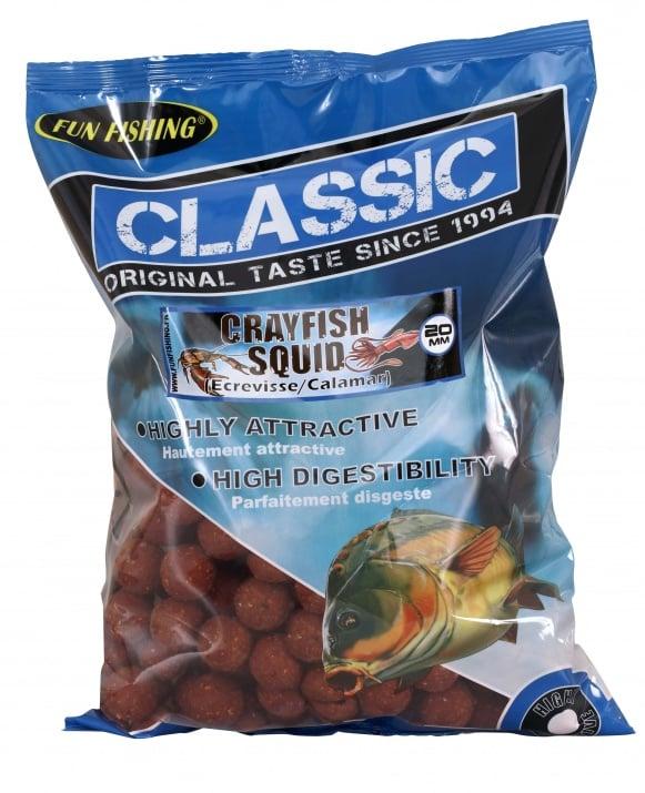 Fun Fishing Classic Boilies 15мм 800гр Протеинови топчета Crayfish Squid