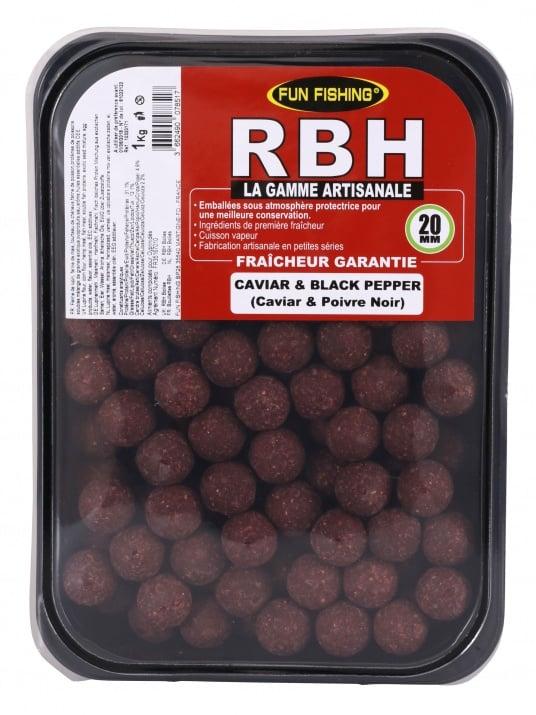 Fun Fishing RBH Boilies Caviar&Black Pepper 1kg Протеинови топчета