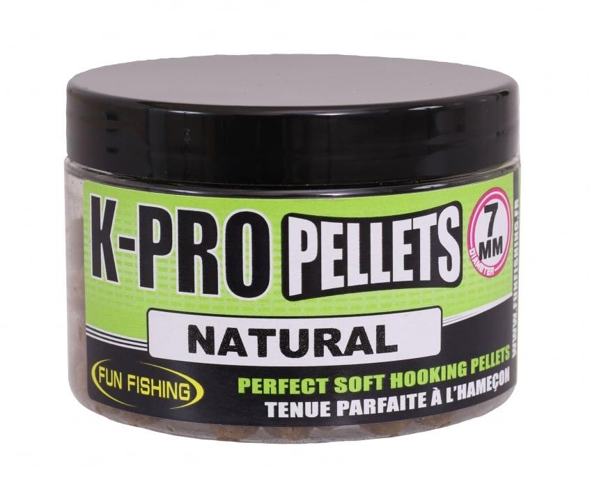 Fun Fishing K-Pro Pellets Меки пелети 7мм Natural