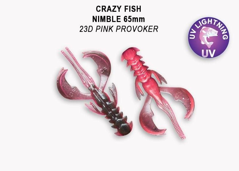 Crazy Fish Nimble 6.5см Силиконова примамка  23D Pink Provoker
