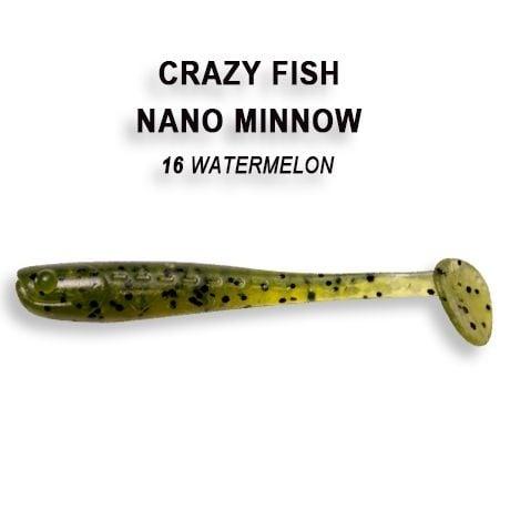 Crazy Fish Nano Minnow 5,5см Силиконова примамка  16 Watermelon