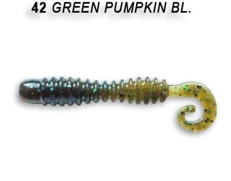 Crazy Fish Active Slug 7см Силиконова примамка  42 Green Pumpkin
