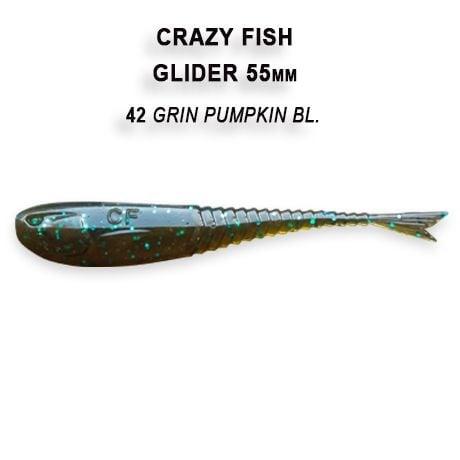 Crazy Fish Glider 5.5см Floating Силиконова примамка 42 Green Pumpkin