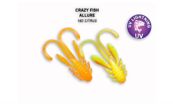 Crazy Fish Allure 2.7см Силиконова примамка 18D Citrus