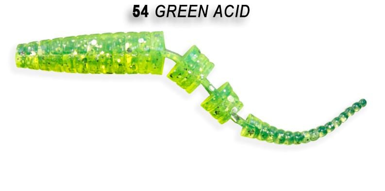Crazy Fish Polaris 4,5см Силиконова примамка  54 Green Acid