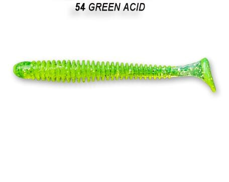 Crazy Fish Vibro Worm 5см Силиконова примамка  54 Green Acid