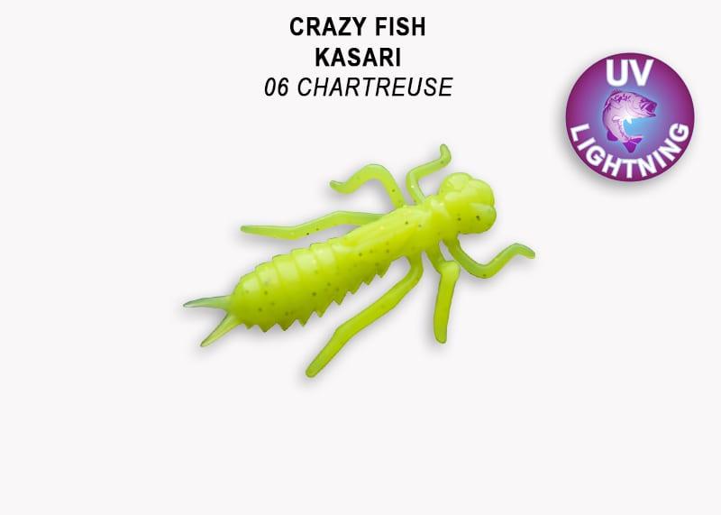 Crazy Fish Kasari 2.7см Силиконова примамка Цвят 6