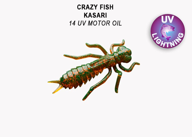 Crazy Fish Kasari 2.7см Floating Силиконова примамка Цвят 14