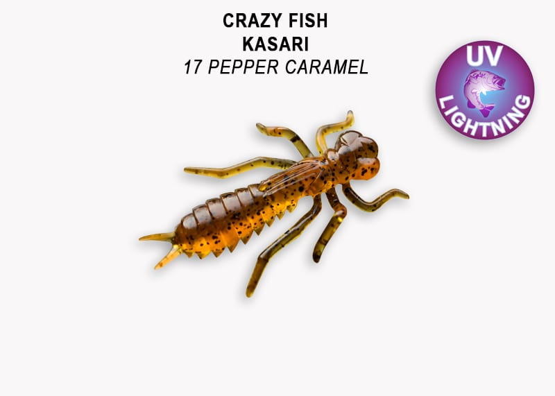 Crazy Fish Kasari 2.7см Floating Силиконова примамка Цвят 17