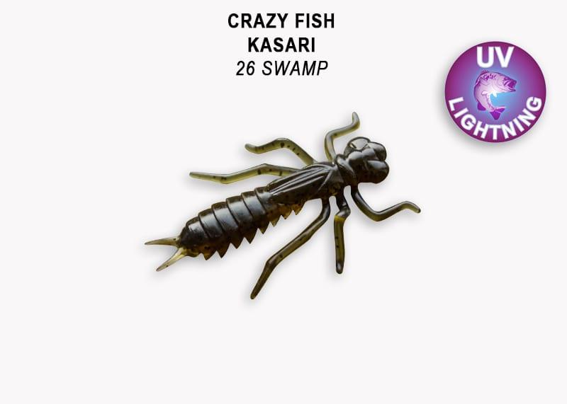 Crazy Fish Kasari 2.7см Floating Силиконова примамка Цвят 26
