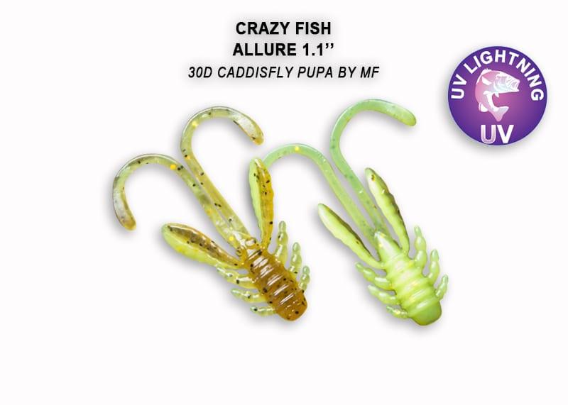 Crazy Fish Allure 2.7см Силиконова примамка 30D Caddisfly Pupa