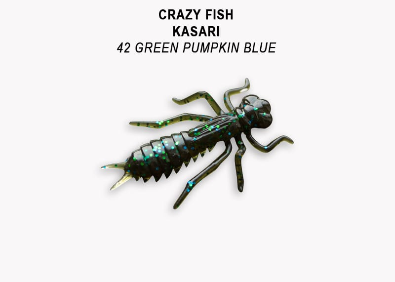 Crazy Fish Kasari 4см Floating Силиконова примамка Цвят 42