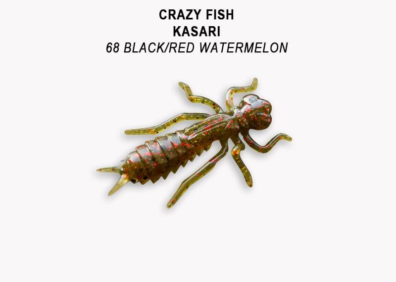 Crazy Fish Kasari 2.7см Floating Силиконова примамка Цвят 68