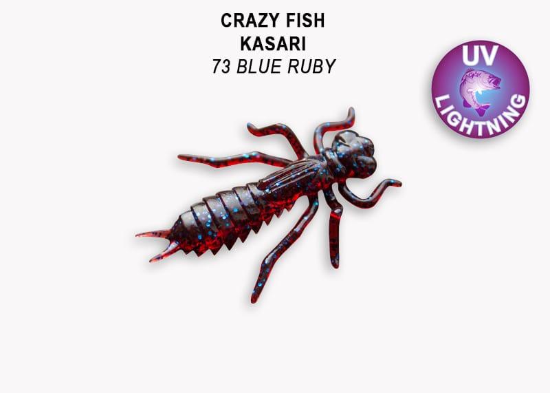 Crazy Fish Kasari 2.7см Силиконова примамка Цвят 73