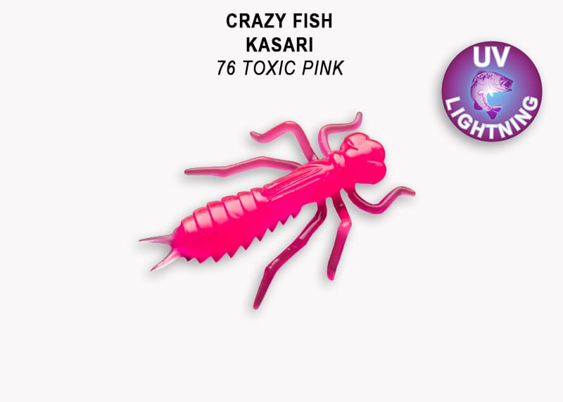 Crazy Fish Kasari 4см Силиконова примамка Цвят 76