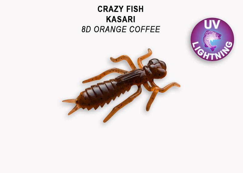 Crazy Fish Kasari 4см Floating Силиконова примамка Цвят 8d