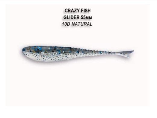 Crazy Fish Glider 5.5см Floating Силиконова примамка 10D Natural