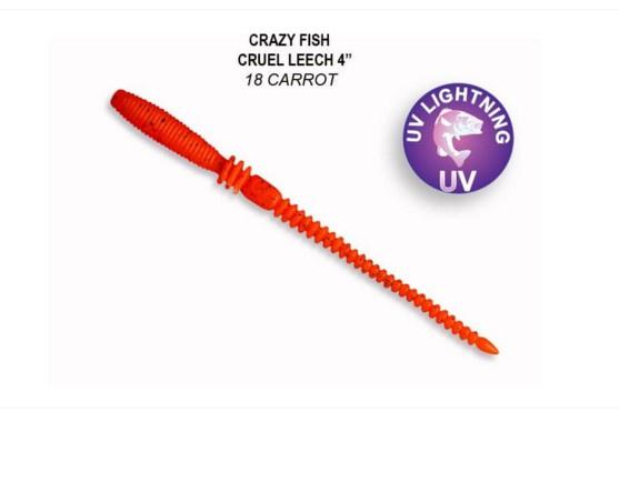 Crazy Fish Cruel Leech 10см Силиконова примамка 18 Carrot