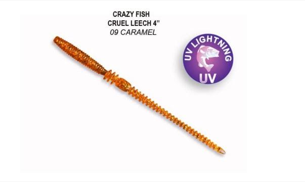 Crazy Fish Cruel Leech 10см Силиконова примамка 09 Caramel