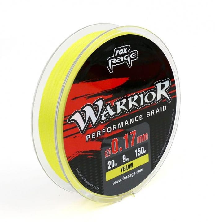 Плетено влакно FOX warrior 0.14мм 8kg - 150 метра