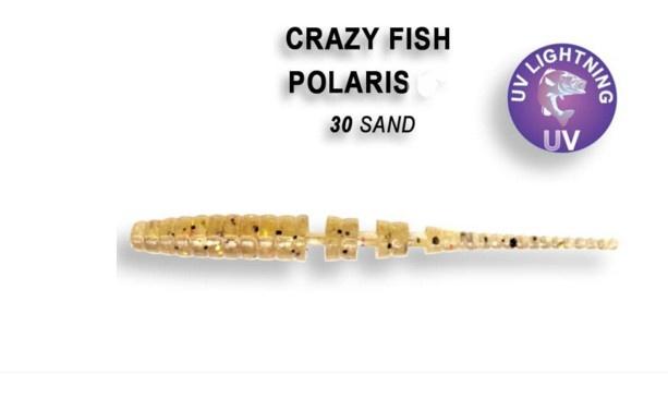 Crazy Fish Polaris 4,5см Силиконова примамка  30 Sand