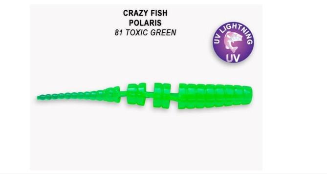Crazy Fish Polaris 4,5см Силиконова примамка  81 Toxic Green