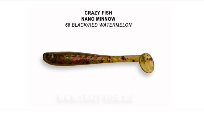 Crazy Fish Nano Minnow 4см Силиконова примамка  68 Black/Red Watermelon